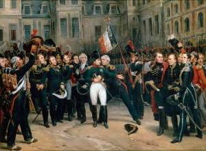 Napoleon's Farewell to the Imperial Guard by Antoine Alphonse Montfort