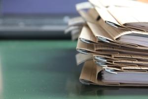 Folder pile