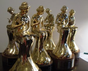 Six RITA statues, courtesy of Barbara Samuel via flickr